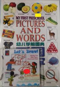 VCD My First Preschool Pictures And Words & Book
