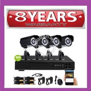 Fullhd CCTV 4 ch super full hd + 8 yrs waranty