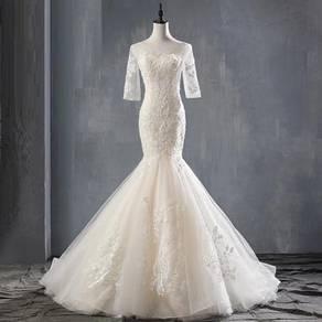 Long sleeve wedding bridal dress gown RB1525
