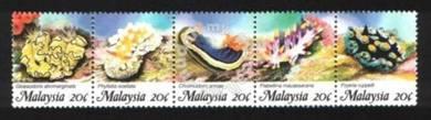 Mint Stamp Marine Life Malaysia 1988
