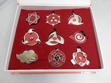 Naruto shippuden keychain set