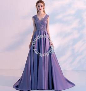 Purple wedding prom evening dress gown RBP1200
