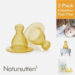 Natursutten Latex Nipples, 2 Pack, Fast Flow