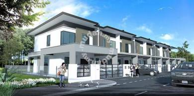New double storey link house in papar