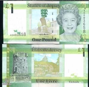Jersey 1 pound 2010 qe ii p 32 unc