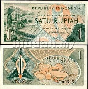 Indonesia 1 rupiah 1961 p 78 unc
