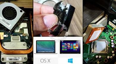 Servis format laptop dekstop windows mac os