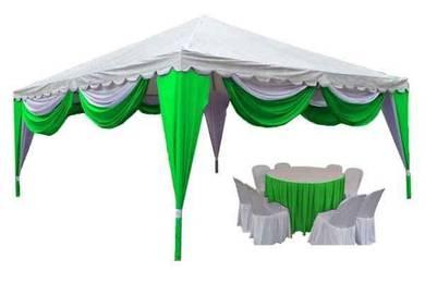 Canopy pyramid 15ft x 15ft (rangka besi )
