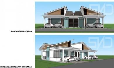 Rumah Semi D Manir Kuala Terengganu (FREE RM10ribu) (RUMAH BARU)