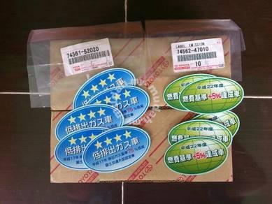 Genuine Original Japan Sticker Globe