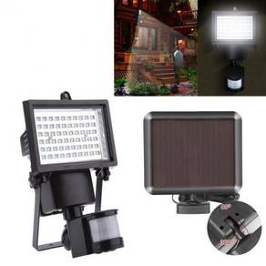 Bright 60 LED Solar Powered PIR Sensor SpotLight