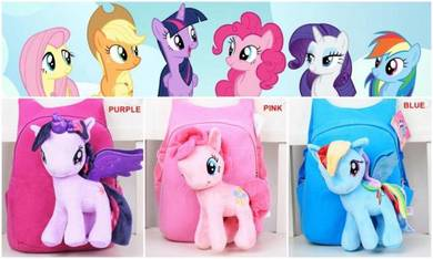 Cute MY LITTLE PONY Soft Plush Toy Backpack bag