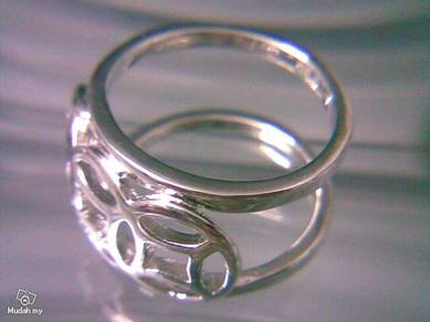 ABRSM-H001 H_style Silver Metal Ring Sz 9 - 15mm