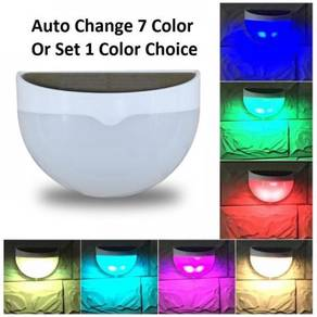Solar lighting +to switch auto change colors