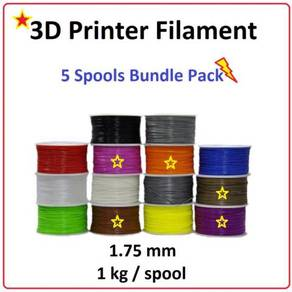 5 Color Bundle Pack 3D Printer PLA Filament