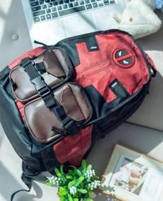 Deadpool red black backpack bag G40