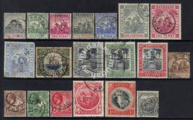 BARBADOS 1870-1910 QV-KGV valuable SELECTION BJ607