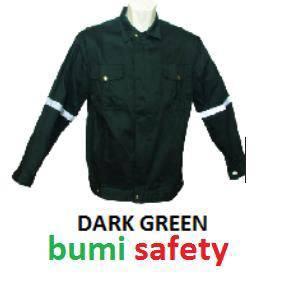 Safety working jacket dark green