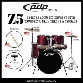 PDP Z5 Acoustic Drumset with throne, drumstick