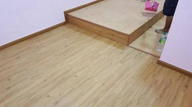 Vinyl Floor Lantai Timber Laminate PVC Floor Q582