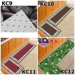 2pcs Anti-slip Bedroom 3D/2D Carpet Kitchen Floor