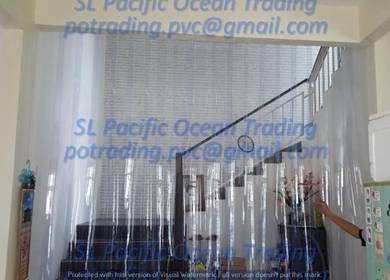 Transparent Strip Curtain Living Hall