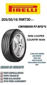 Pirelli 205 55 16 cinturato p7 rft * bmw e88 mini