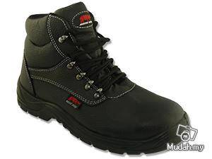 Safety Shoe Rhino Mid Cut Lace Up Black TP5100SP