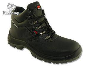 Safety Shoes Rhino Mid Cut Lace Up Black WPB201SP