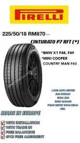 Pirelli 225 50 18 cinturato p7 rft * bmw X1 COOPER