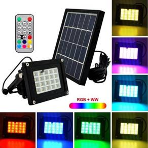 Solar Powered Garden Floodlight 7-colors LED 20