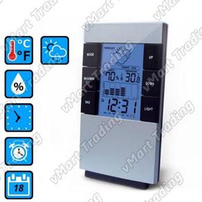 Weather Station Hygrometer Thermometer Alarm Clock