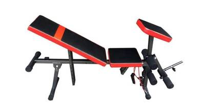 Bench with arm curl/leg extension-SMARTLIFE