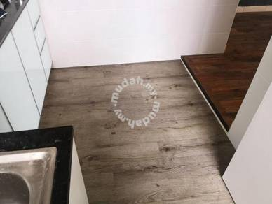 Vinyl Floor Lantai Timber Laminate PVC Floor Q578