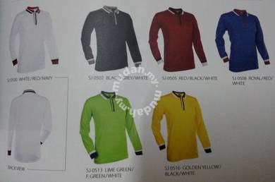 T shirt Kollar Long Sleeve with tipping design
