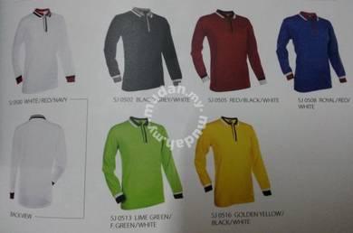 T shirt Kollar Long Sleeve with tipping design