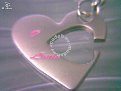 ABPSS-L001 Stainless Alloy Double Love Necklace
