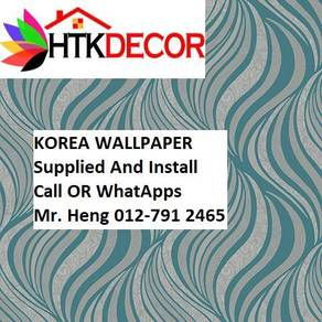 Wall paper Install at Living Space 4043W