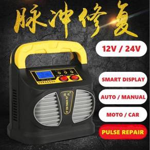 12V/24V 15A Smart LCD Car Battery Repair Charger