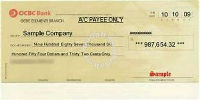 Cek syarikat / Company Cheque