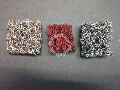 Two tone colour pvc coil mat carpet