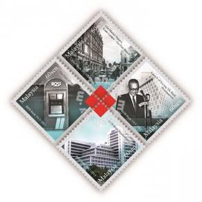 Mint Stamp Sheet 100 Years RHB Bank Malaysia 2013