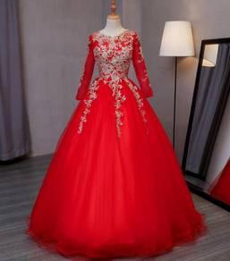 Red Wedding Bridal Ball Prom Dress Gown RBMWD0110