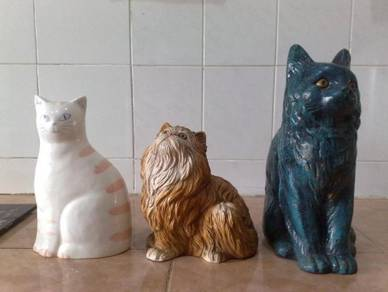 3501 adorable cat statues patung kucing 3