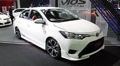 Toyota vios 13 trd bodykit with paint body kit