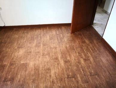 Vinyl Floor Lantai Timber Laminate PVC Floor Q580