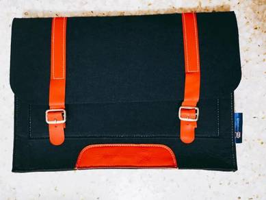 Blue red Kronenbourg wool laptop casing case bag