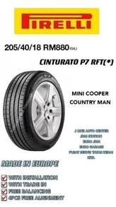 Pirelli 205 40 18 cinturato p7 rft * mini cooper