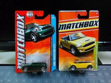Lot of 2 Matchbox 2010 Mini Cooper S Convertible