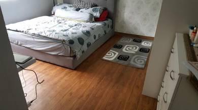 Vinyl Floor Lantai Timber Laminate PVC Floor Q562
